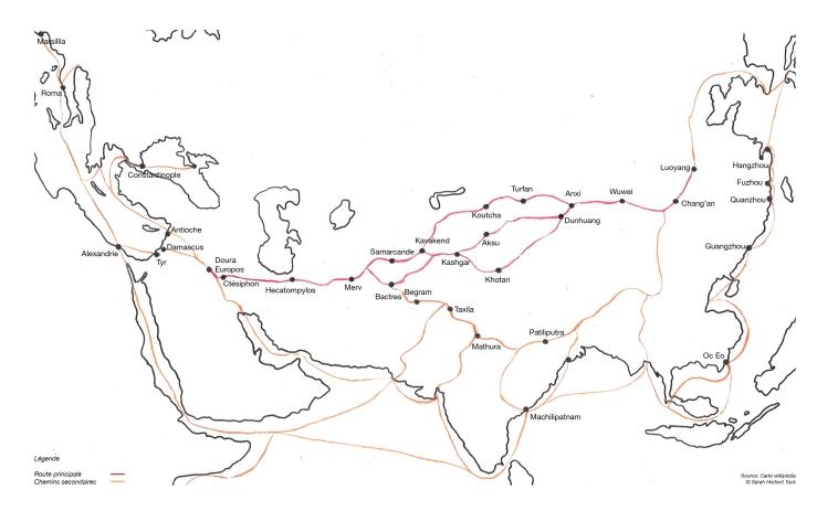 Carte les route de la soie 2